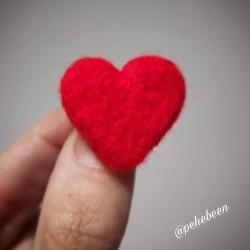 Corazón fieltrado: rojo